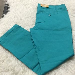 Mossimo Supply Co teal chino ankle pant